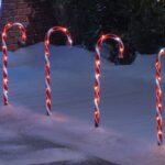 20 LED RED & WHITE 25CM CANDY CANE CHRISTMAS LIGHTS SET OF 4